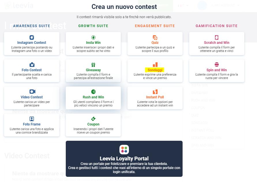come creare sondaggi online con leevia