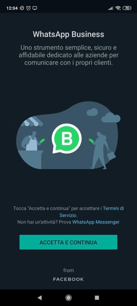 configurazione whatsapp business