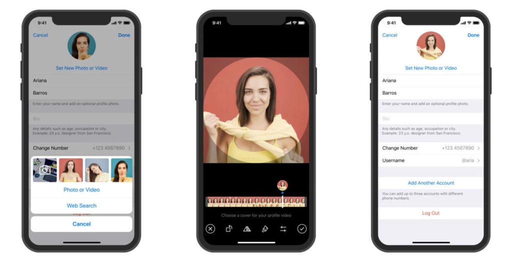 video profilo telegram