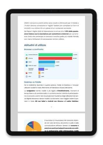 benchmark sui concorsi a premio - analisi e statistiche sui contest - ebook gratis - leevia academy - example page