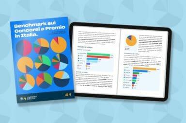 benchmark sui concorsi a premio - analisi e statistiche sui contest - ebook gratis - leevia academy - cover blog