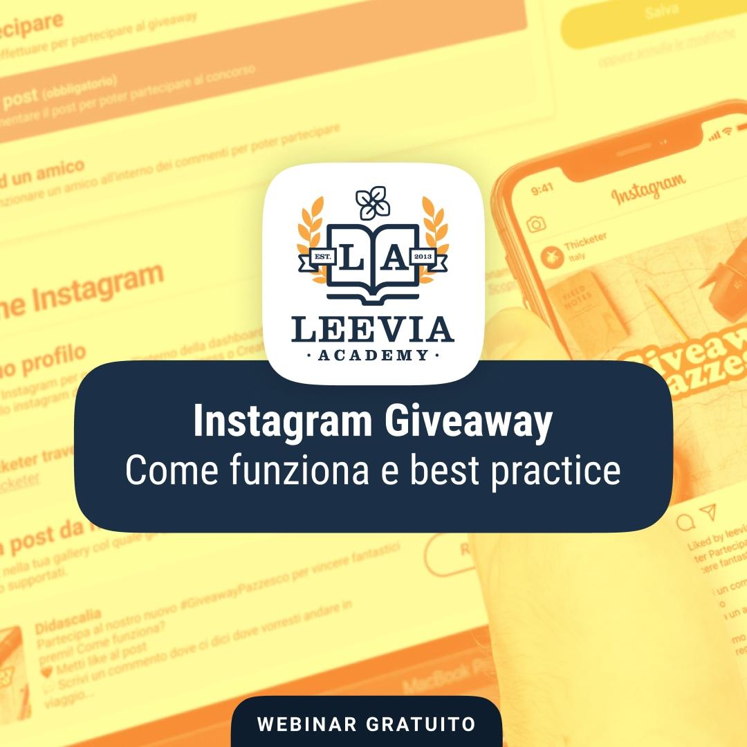 [Webinar gratis] Instagram Giveaway: come funziona e best practice