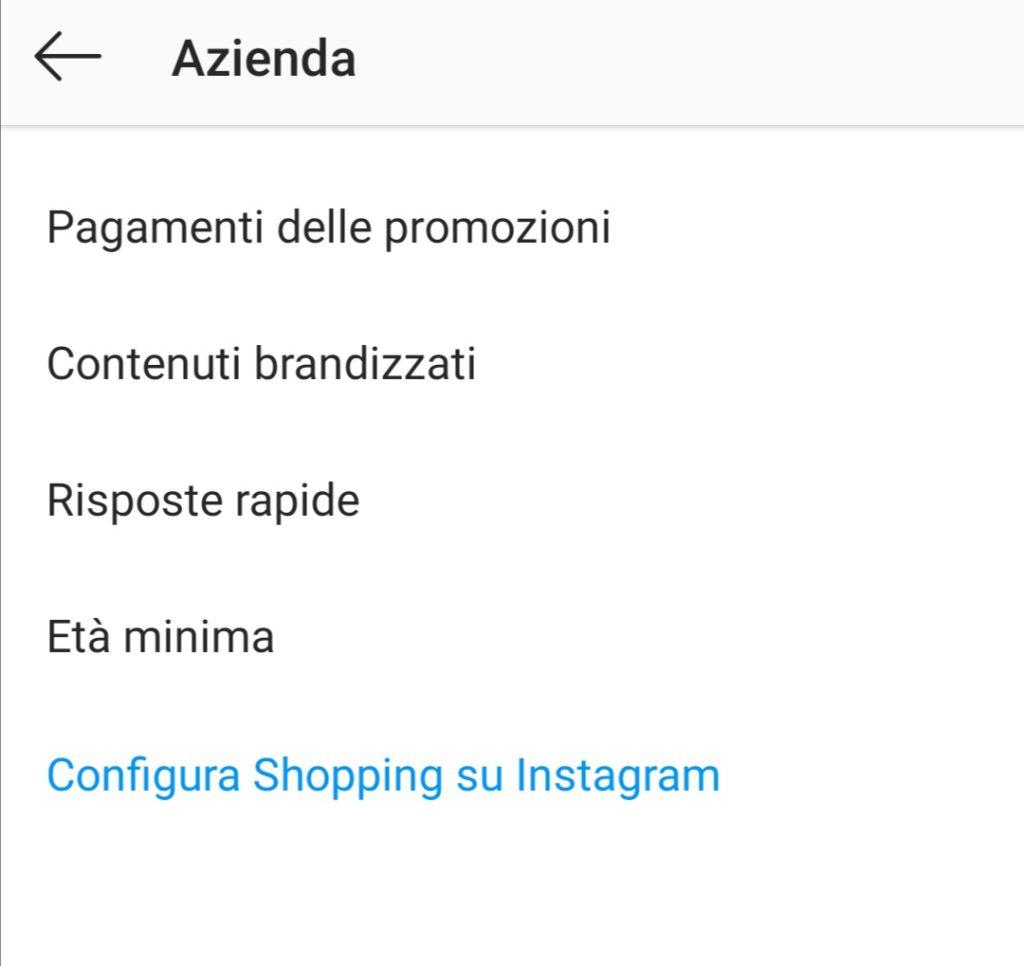 Aggiungere una risposta rapida dalle impostazioni dell'account Instagram