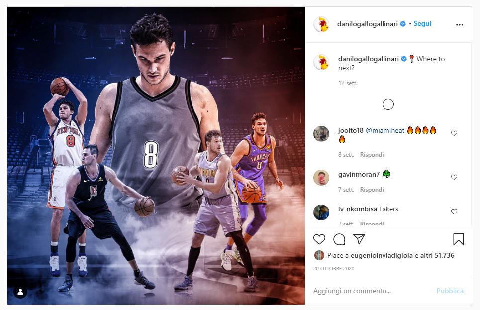 instagram post sport marketing social danilo gallo gallinari