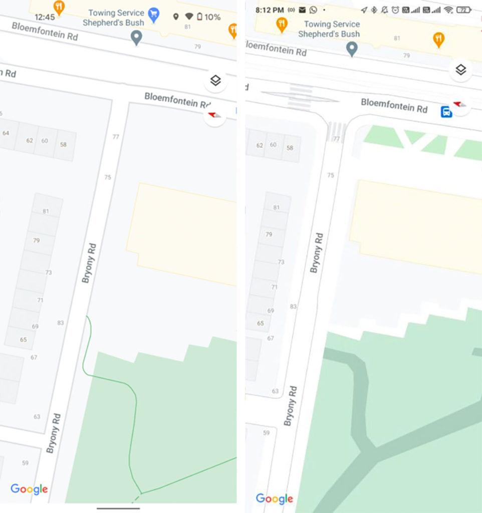 Google Maps lancia nuovi dettagli a livello stradale per quattro città