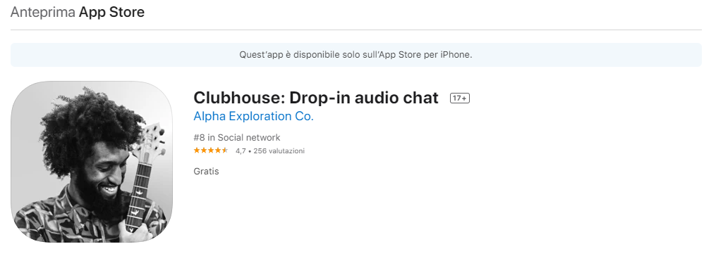 clubhouse app su appstore ios