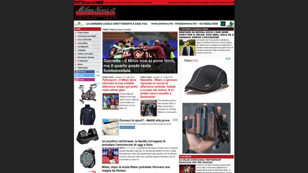 Milan News sito justmary_mn_desktop