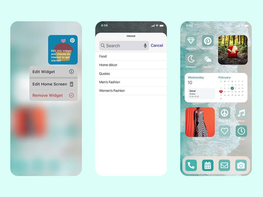 Pinterest presenta il widget Interessi per iOS
