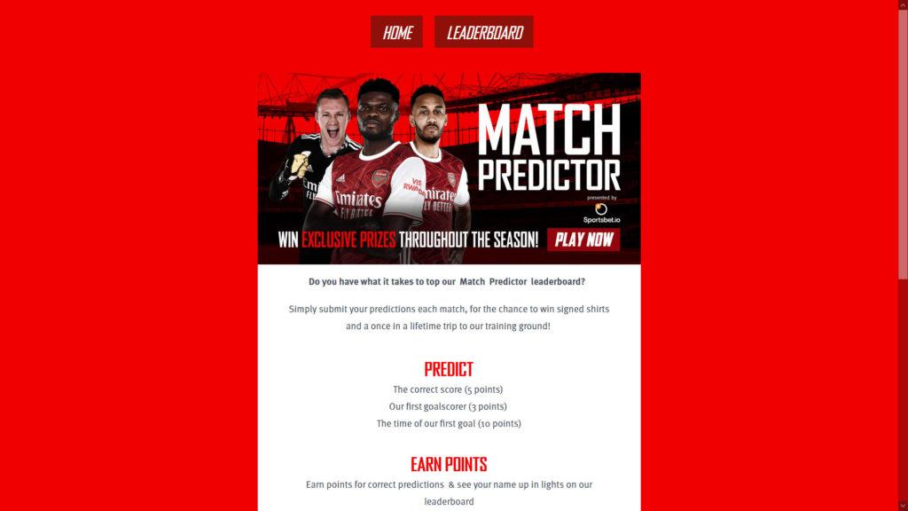 Contest online Arsenal