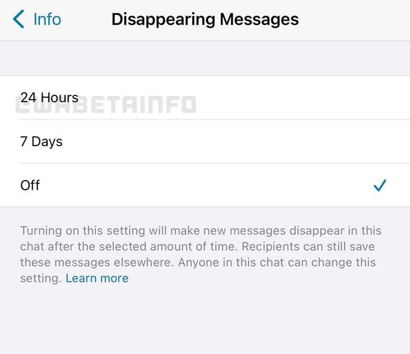 WhatsApp e i messaggi che scompaiono dopo 24 ore