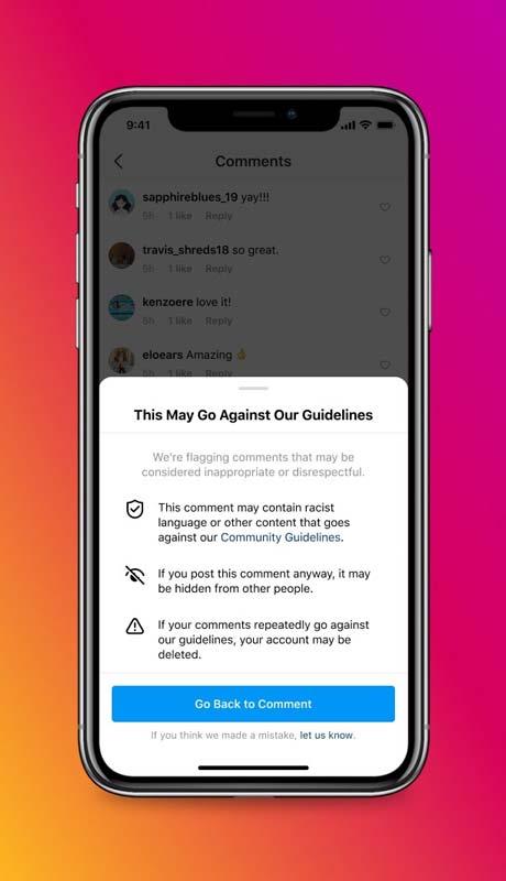 Nuove funzionalità Instagram per proteggere gli utenti