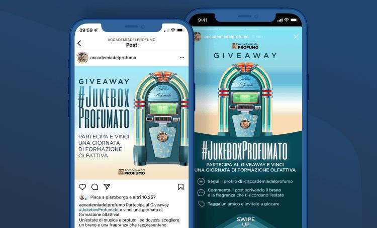 L'Instagram Giveaway da oltre il 40% di conversion rate - Accademia del Profumo